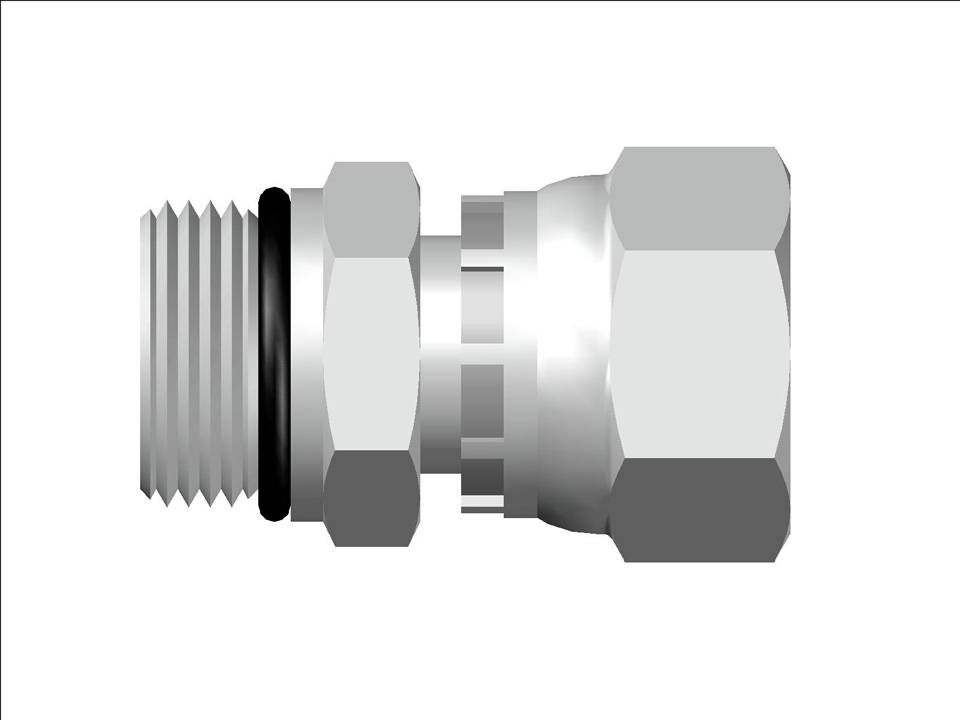 37 Flare Swivel ISO 6149 Male Connector