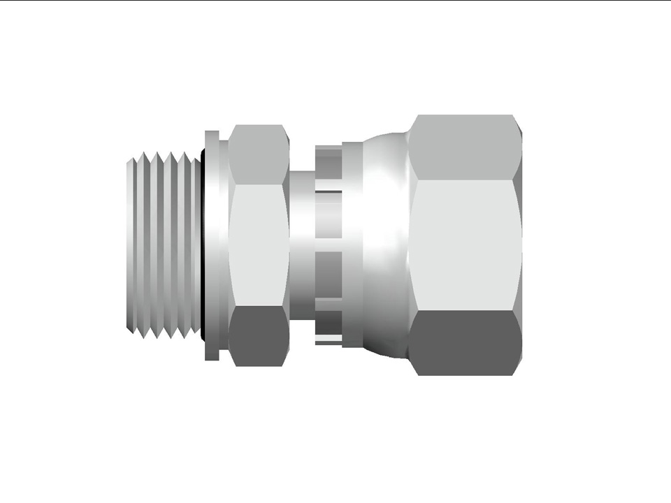 37 Flare Swivel Metric OR Male Connector