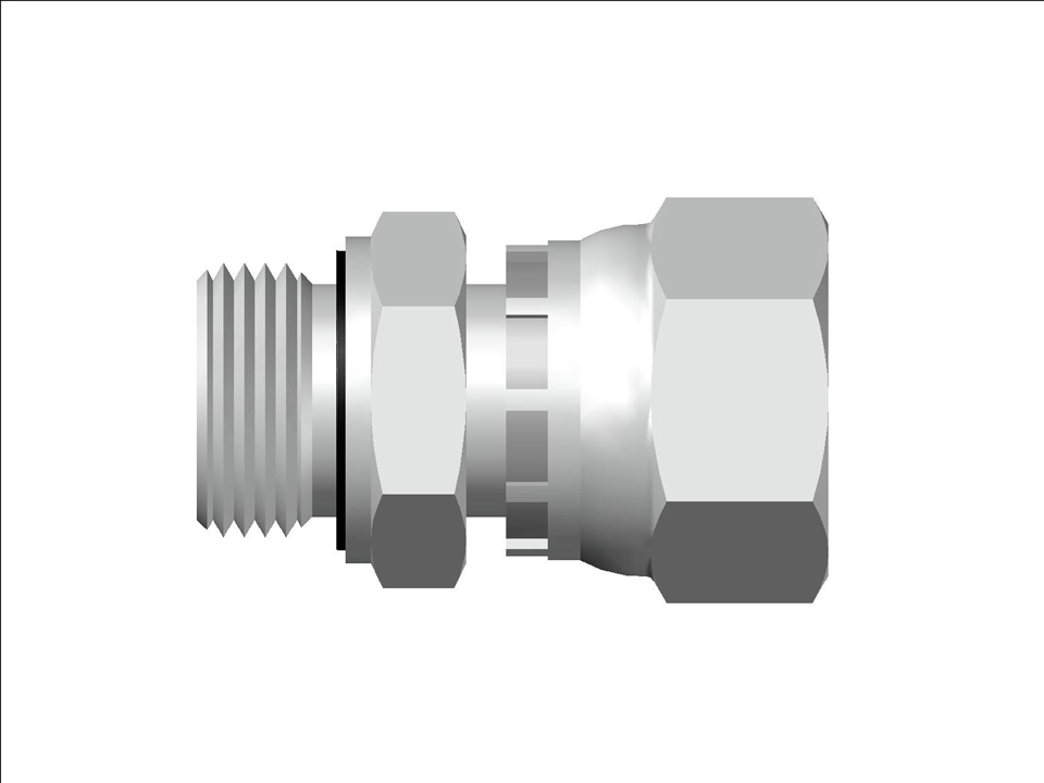 37 Flare Swivel Metric EO Male Connector