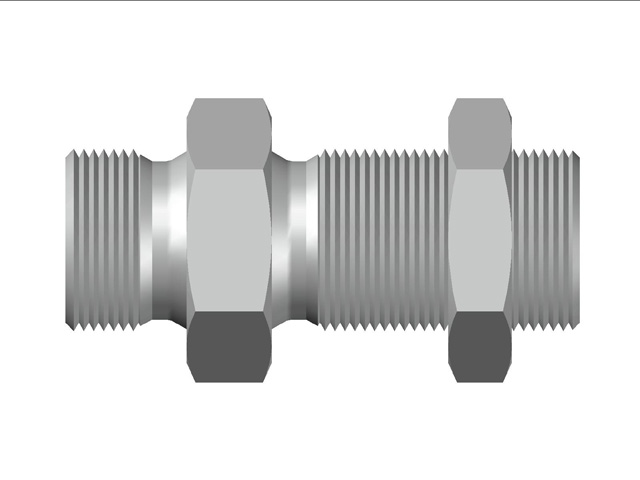 Bulkhead Male Adapter BSP (Parallel) Thread With Lock Nut