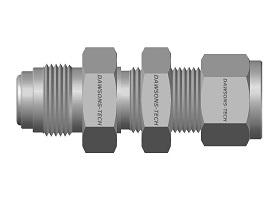 Compression Tube Fitting<br />Bulkhead Connector