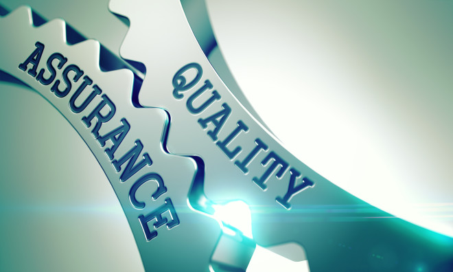 Quality Assurance - Mechanism of Metal Cogwheels . 3D