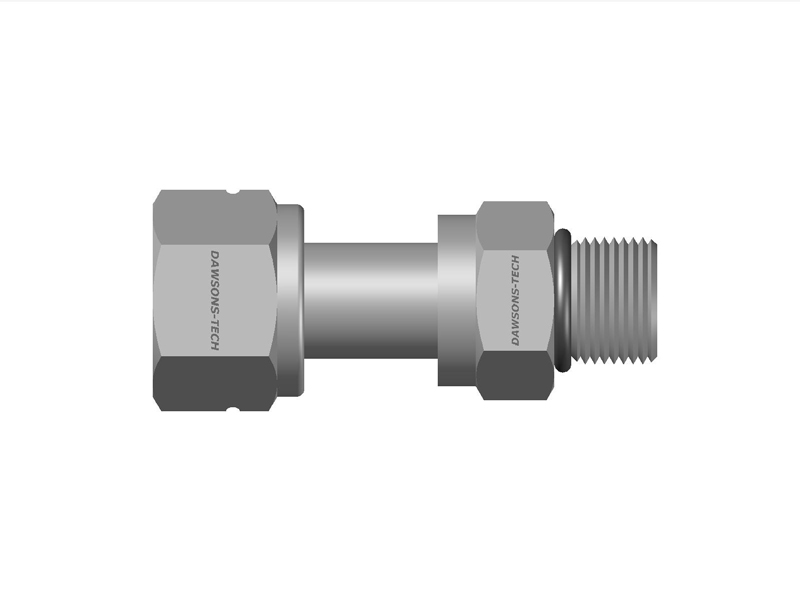 Swivel-Male-Connector-(SAE-MS-Straight-Thread)