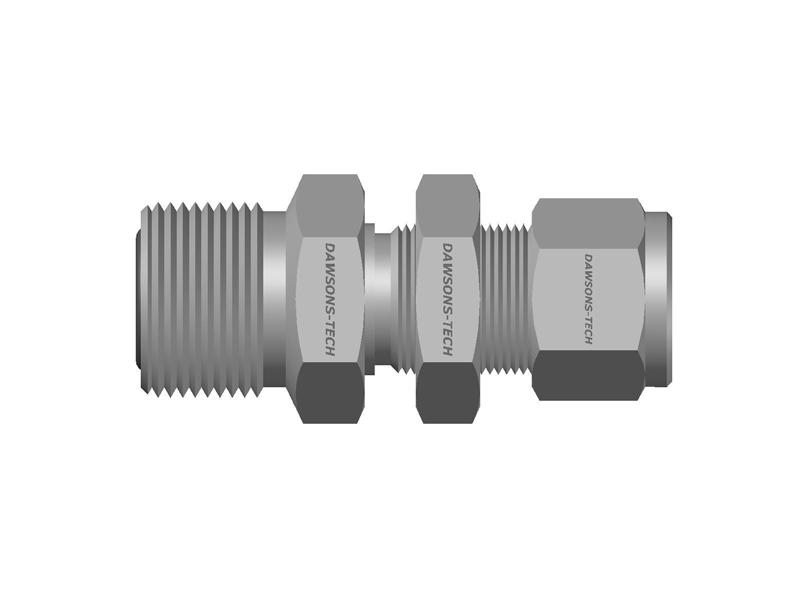 Compression Tube Fitting Bulkhead Connector