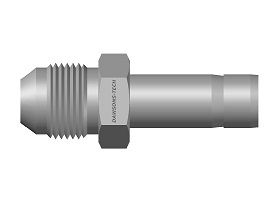 AN Male Adapter (AN Male Thread to Tube End)