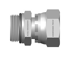 37 Flare Swivel BSP Parallel<br />Male Connector EO