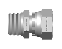 37 Flare Swivel BSP Taper Male Connector