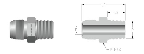 01 Male Connector (NPT Thread)