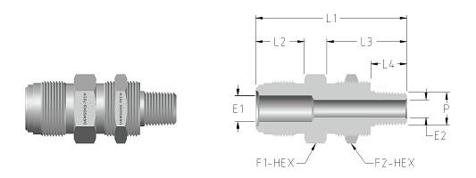 02 Bulkhead Male Connector (NPT Thread)