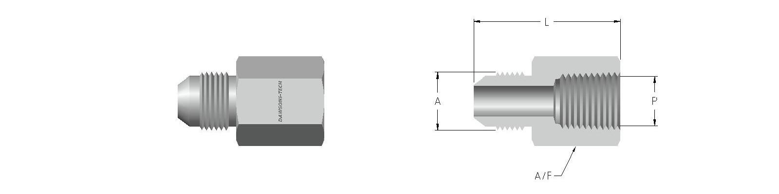 03 Female Connector (37 Flare to Female NPT Thread)