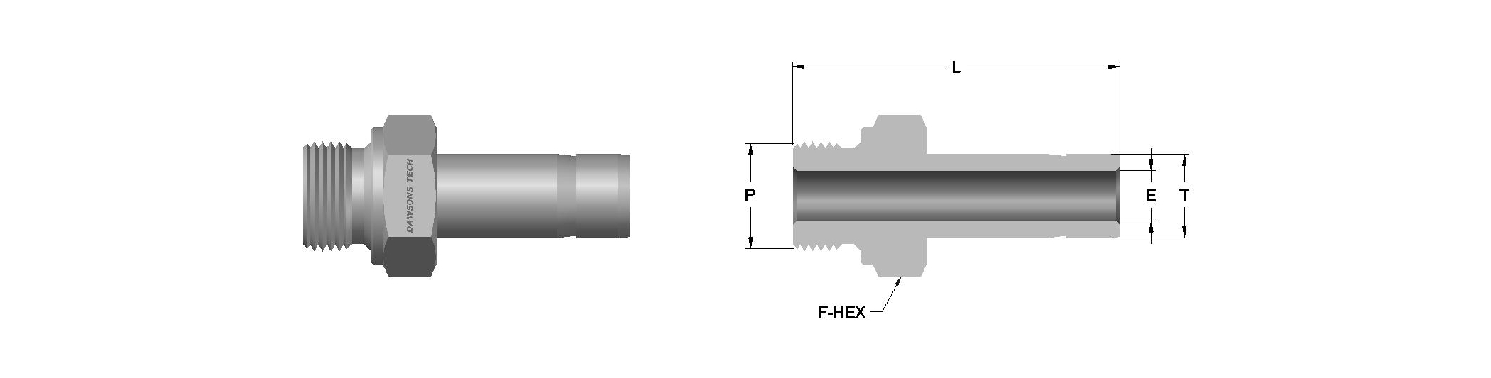 03 Male Adapter (BSP) (According to DIN 3852 Part 2 Form B)