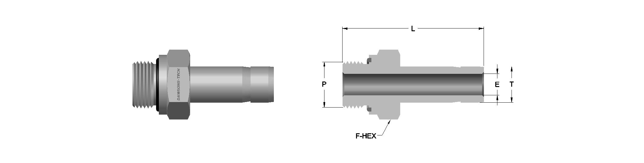 04 Male Adapter (BSP) (According to DIN 3852 Part 2 Form E)