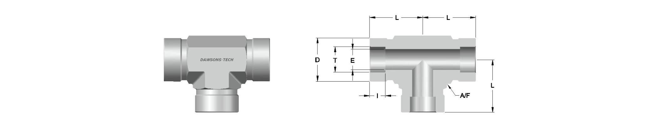 04 Tube Socket Weld Union Tee