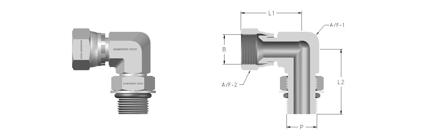 06 Swivel Posisnable Male Elbow (Swivel Nut to SAE-MS Straight Thread)