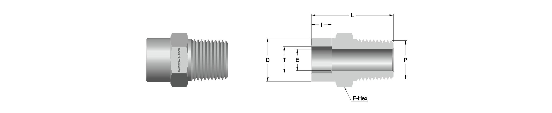 06 Tube Socket Weld Male Connector