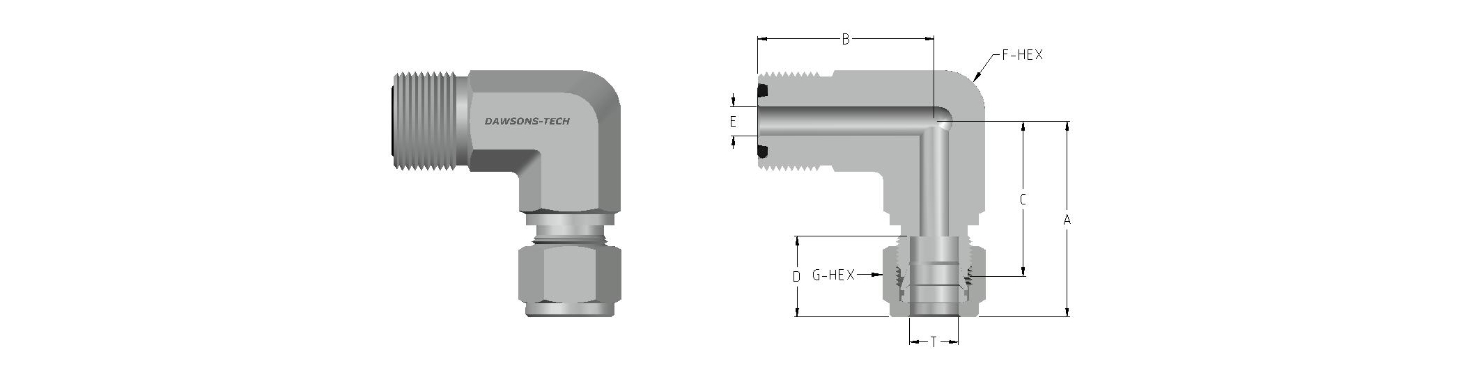 08 Compression Tube Fitting Elbow