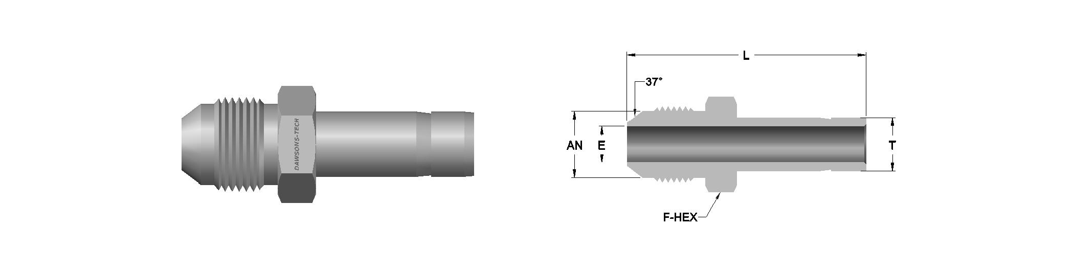 10 AN Male Adapter