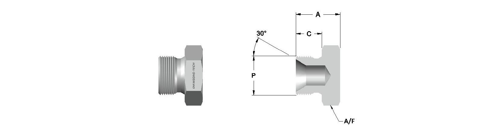 10 Hex Plug BSP (Parallel) Thread-Model-B