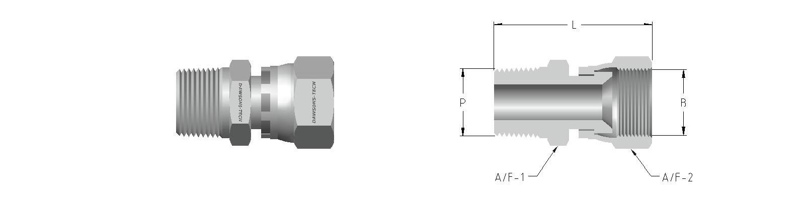11 Swivel Male Connector (Male NPT Thread to Swivel Nut)