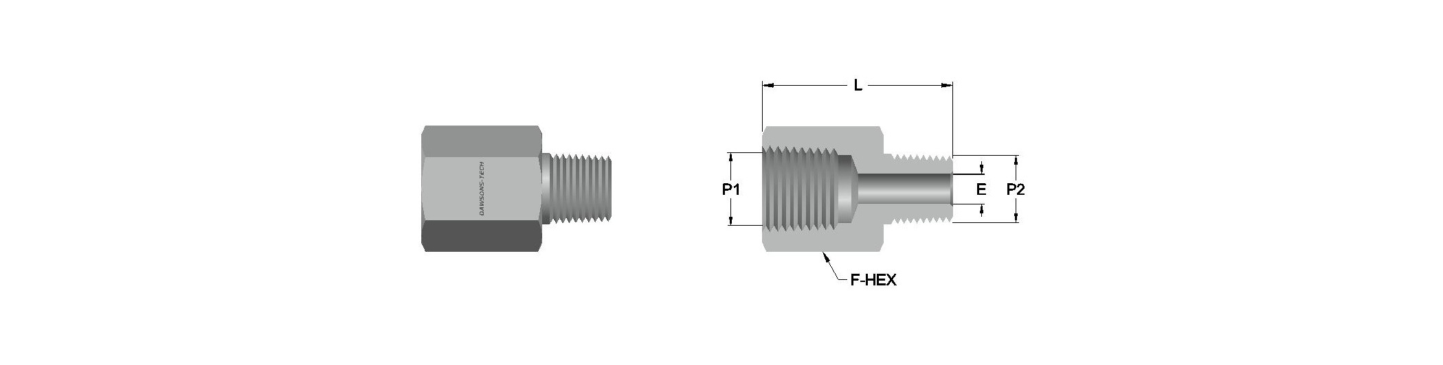 12 Reducing Adapter (NPT & BSPT) Threads