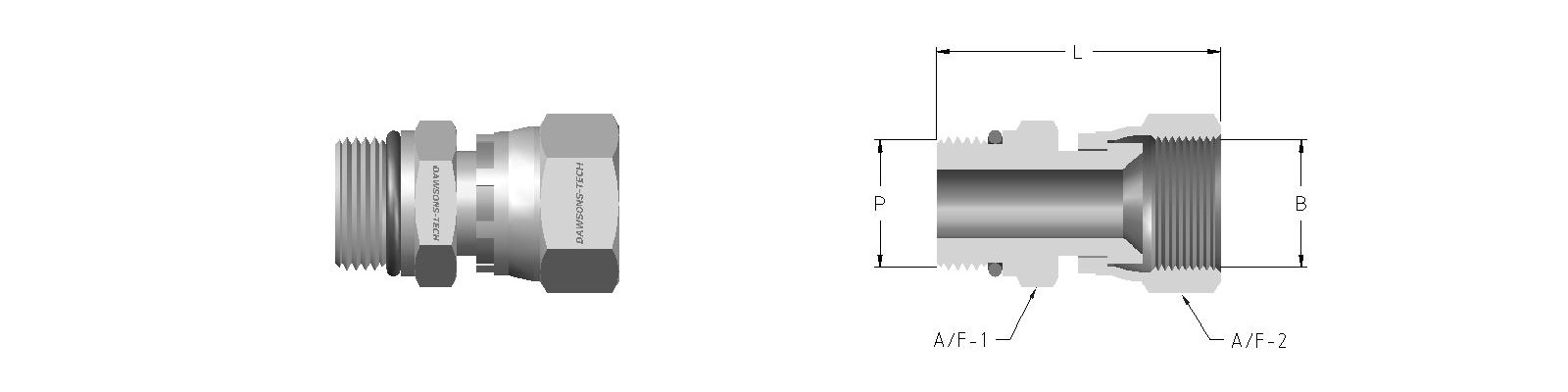 16 Swivel Male Connector (Male BSP Parallel Thread 'EO' to Swivel Nut)