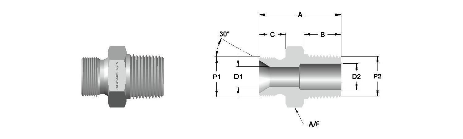 17 Male Adapter BSP (Parallel) to BSPT Thread-Model
