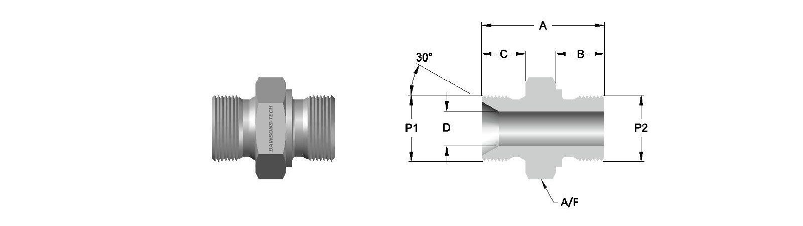 18 Male Adapter (OR) BSP (Parallel) to BSP (Parallel) Thread-Model