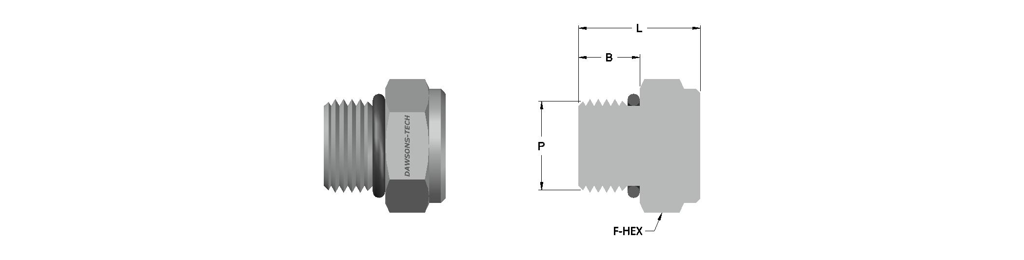 31 Hex Head Plug (SAE-MS) Threads