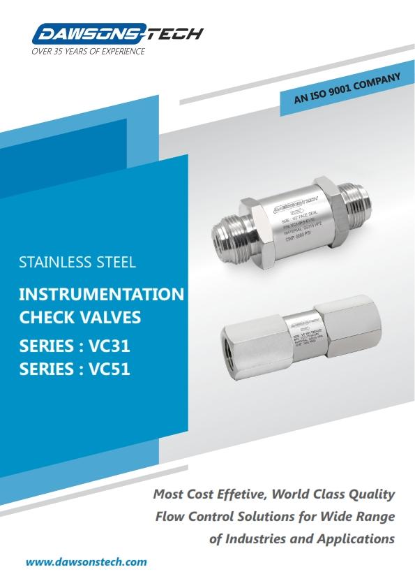 Instrumentation Check Valves